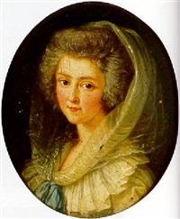 portrait de jeune femme au voile blanc by charles lepeintre