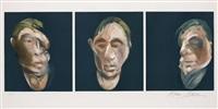 trois études pour un autoportrait (three studies for a self-portrait) (3 works) by francis bacon