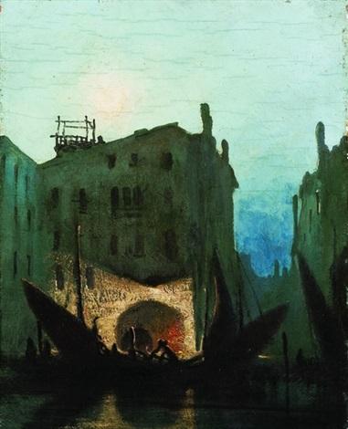 notturno a venezia by gennaro favai