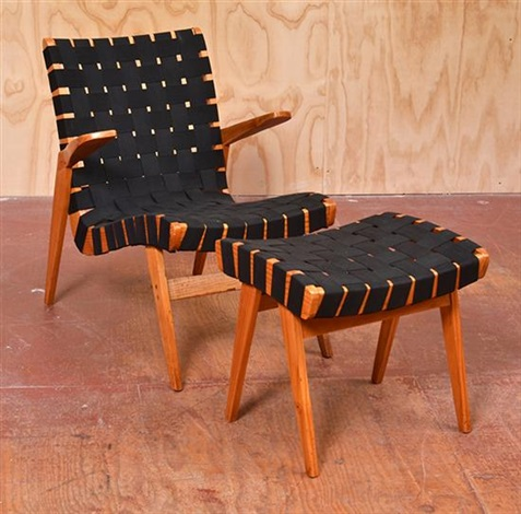 Stupendous Webbed Recliner Chairs And Matching Stools Pair By Douglas Machost Co Dining Chair Design Ideas Machostcouk