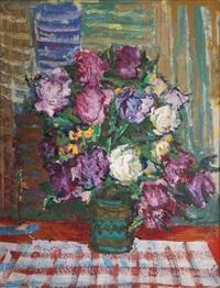 flowers in a vase by nicolas gloutchenko