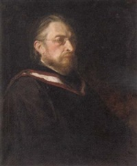 portrait of professor frederick niecks in a gown by robert henry alison ross