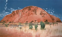 the cathedral, the north east face/uluru - ayers rock by michael andrews