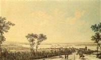 vue de la charité-sur-loire by nicolas louis de lespinasse