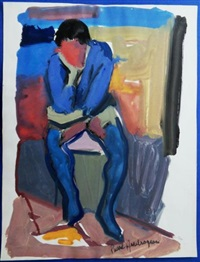 homme pensif by pierre ambrogiani