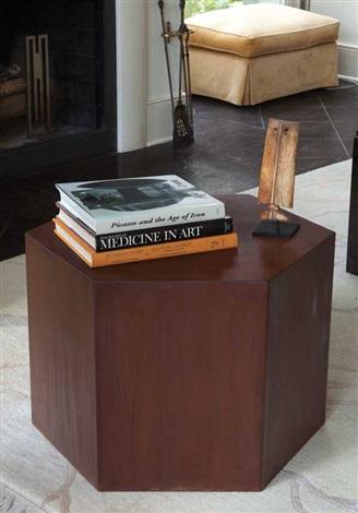 large hexagon table by arthur silverman