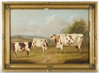 prize cattle in a landscape by william henry davis