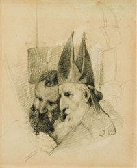a bishop (+ another; 2 works) by william mulready