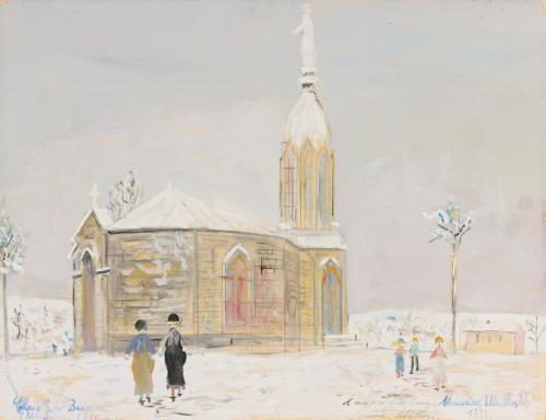 chapelle de buisante rhône by maurice utrillo