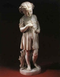figure of a young girl by john adams-acton