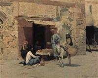 the fruit seller by raphael von ambros