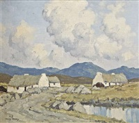 cottages by water by paul henry