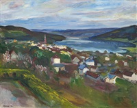 view over lillehammer by kristen holbø