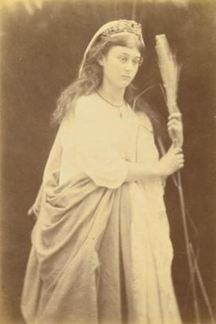 alice liddell as st. agnes by julia margaret cameron