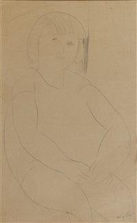 jeune fille assise by amedeo modigliani