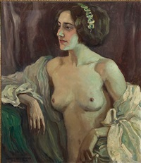a female nude by ernst liebermann