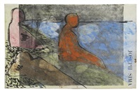 untitled (after seurat) by bob thompson