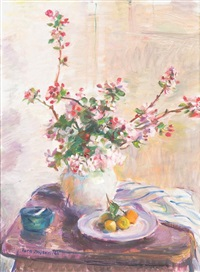 still life with blossoms by nora heysen