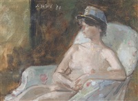 nude in a képis by john stanton ward