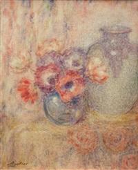 anemones dans un vase by lucien boulier
