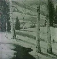 winter shadows by william e. ashbaugh