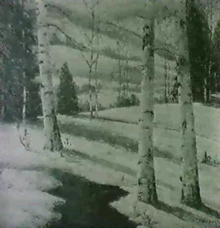 winter shadows by william e ashbaugh