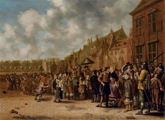 la place du mauritshuis à la haye by sybrand van beest