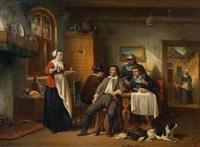 scène d'intérieur by johannes christoffel vaarberg