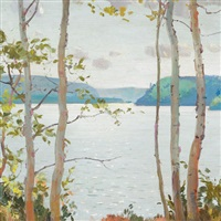 orient bay, lake nipigon by george agnew reid