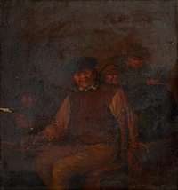 joyeux buveurs dans une taverne by egbert van heemskerck the elder