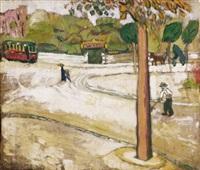kertváros villamossal (garden suburb with a tram) by gitta gyenes