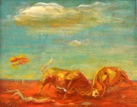 bull fight by william dobell