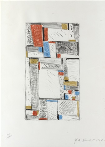 color drawing for relational painting by fritz glarner