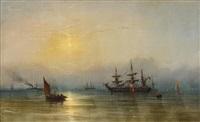 ships at twilight by james hamilton