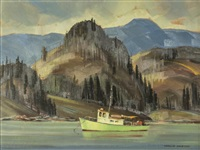 untitled - fishing boat by ronald threlkeld jackson