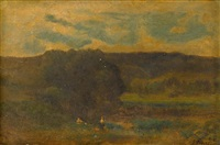 twilight landscape by george inness