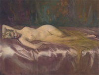 reclining nude by cowan dobson