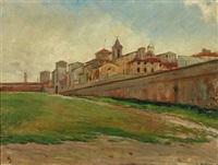 cityscape of livorno by albert gottschalk