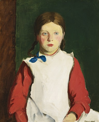 little irish girl by robert henri