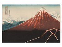 thunderstorm (from the 36 views of fuji) by katsushika hokusai