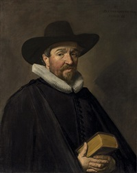 portrait of conradus viëtor (1588-1657) by frans hals the elder