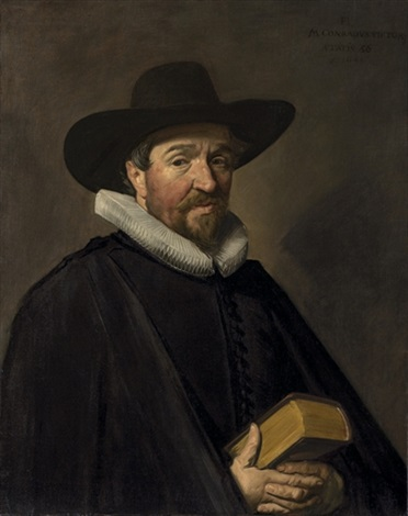 portrait of conradus viëtor 1588 1657 by frans hals the elder