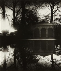 in the garden of christ's college, cambridge by bill brandt