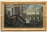 palace with the dismission of hagar by hendrick van steenwyck the younger