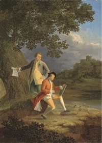 double portrait of the artists (collab. w/george smith of chichester) by john smith the younger