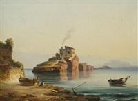 les pêcheurs au bord de mer by gabriele smargiassi