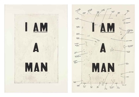 condition report diptych by glenn ligon