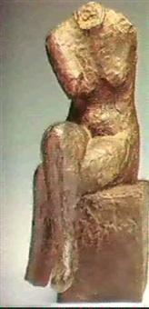 siddende kvinde by knud nellemose
