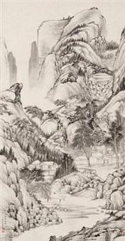 白云秋坞图 by qian weicheng
