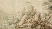 paysage montagneux animé by philips de momper the elder